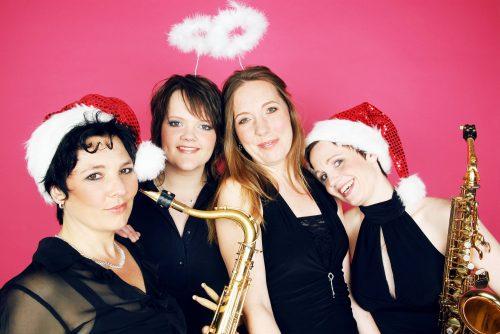 BrassAppeal ist die Band, Vier Musikerinnen, ideal für Hintergrundmusik oder Showeinlagen für Weihnachtsfeiern, Outdoor-Events, Weihnachtsmärkte …